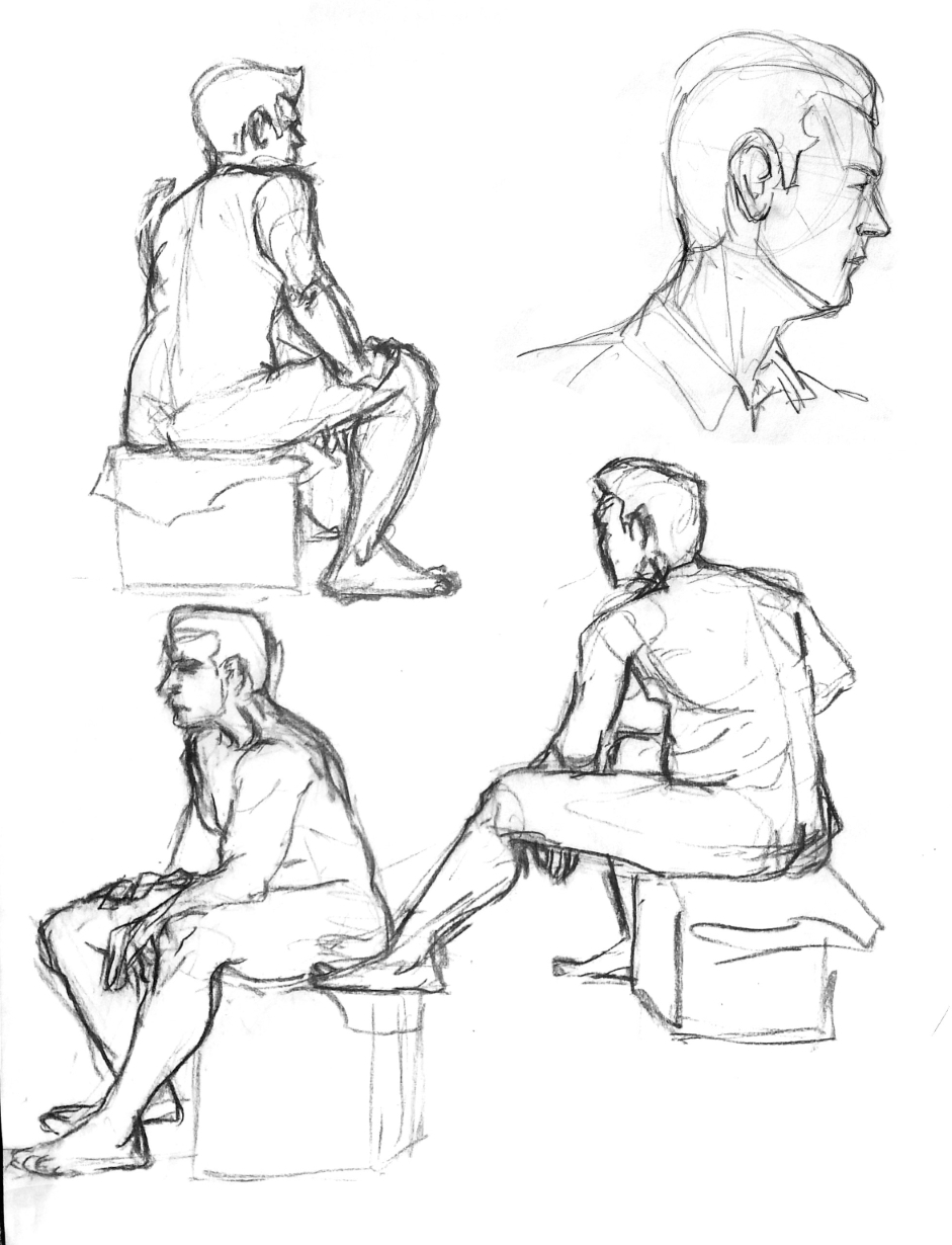 Sitting Man Sketches